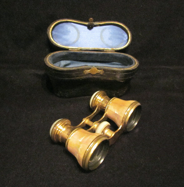 Antique Paris Opera Glasses Mother Of Pearl La Corona