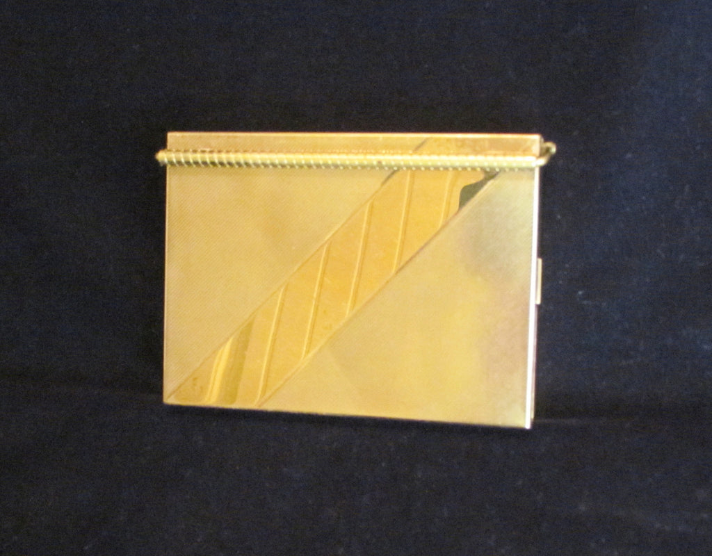 1950s Volupte Gold Compact Purse Excellent Condition