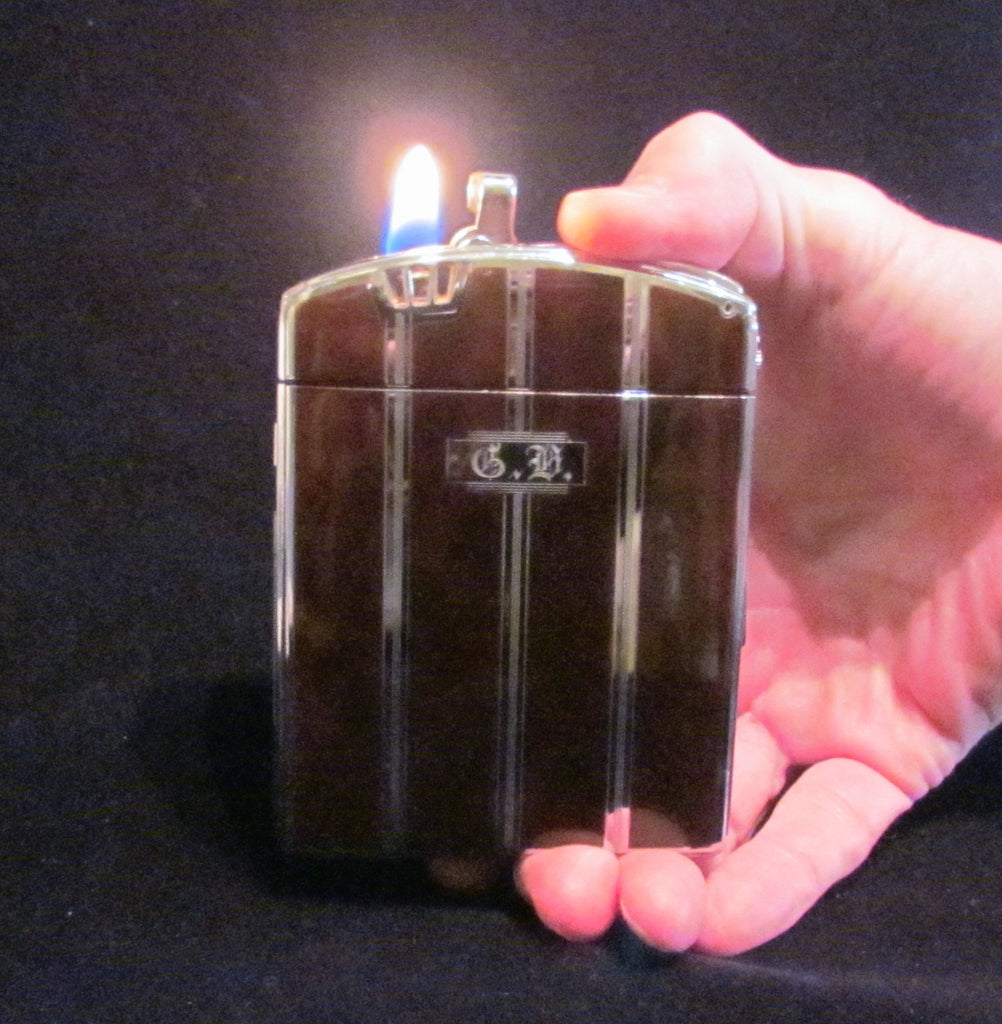 1940s Ronson Twentycase Case Lighter Art Deco Enamel Cigarette Case Boxed Working Condition