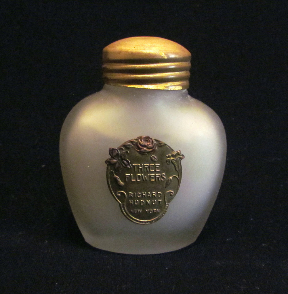 1920s Richard Hudnut Skin Sachet Bottle Vintage Three Flowers Perfume Bottle Full & Unused