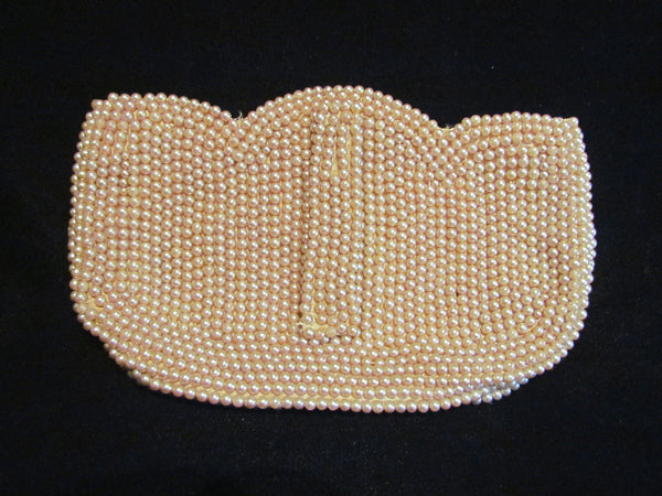 1940s Faux Pearl Purse Occupied Japan Bridal Bag Wedding Purse Excellent Condition