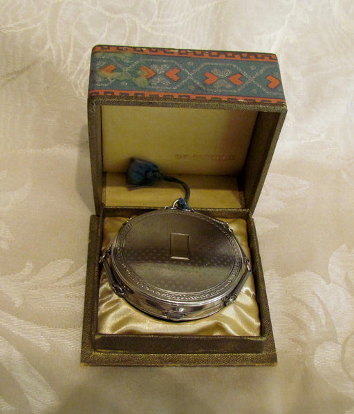 Richard Hudnut Deauville Compact Purse 1920s Powder And Rouge Compact In Original Box
