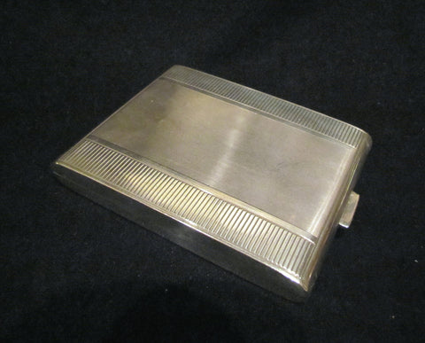 1910s Sterling Silver Cigarette Case German Card Case Business Credit Card Holder 925 Silver