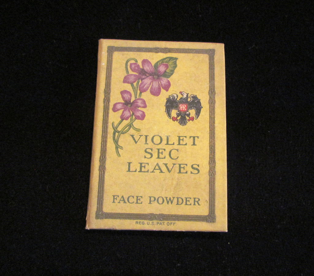 Richard Hudnut Book Compact Violet Sec Face Powder Unique Antique Powder Sheets