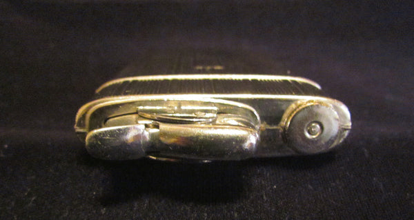 1940s Evans Cigarette Case Lighter Art Deco Silver Excellent Working Condition