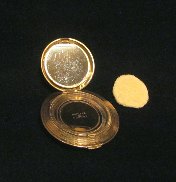 Richard Hudnut Brocade Compact Red Enamel And Gold Makeup Compact