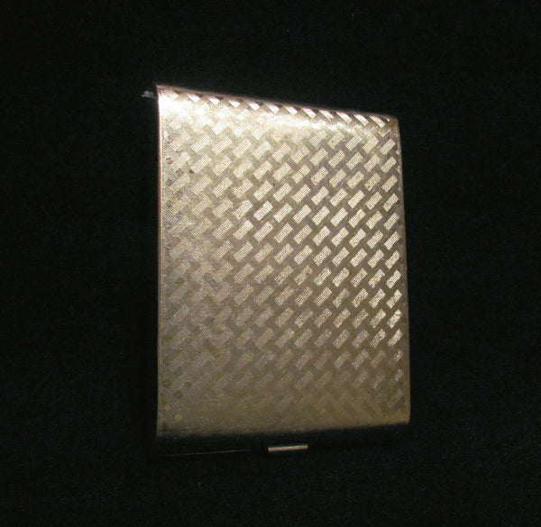 Vintage Evans Silver Cigarette Case Business Credit Card Holder 1930s