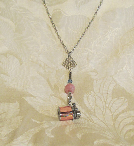 Vintage Lift Arm Lighter Necklace OOAK Handmade Detachable Holographic Lighter Necklace Working Lighter