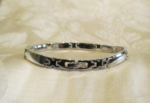 Stainless Steel Link Bracelet Mens Or Ladies Unisex Unused