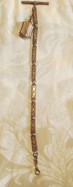 Finberg Mfg Co Rose Gold Watch Chain Fob 1900s Antique