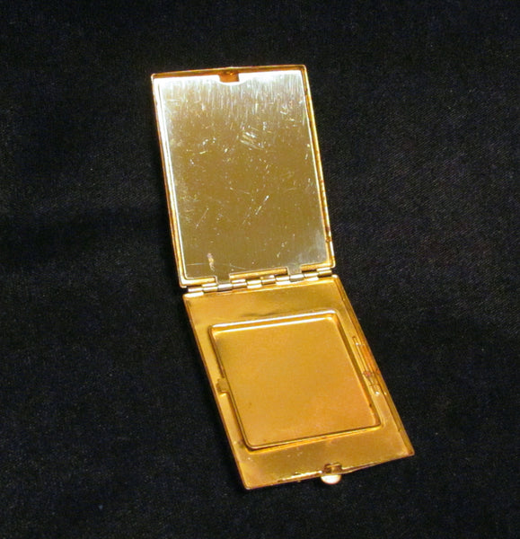 Vanstyle Ivory Enamel Powder And Rouge Compact 1930's Vintage Compact