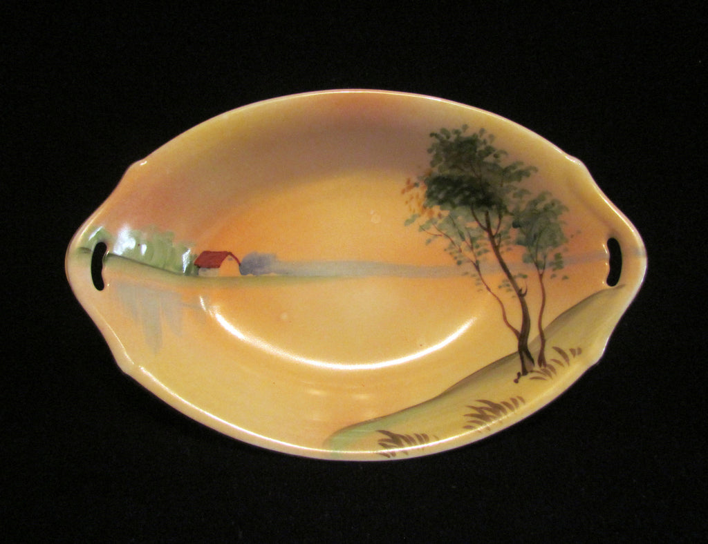 Nippon Relish Dish Hand Painted Porcelain Circa 1930's Condiment or Candy Dish Japan