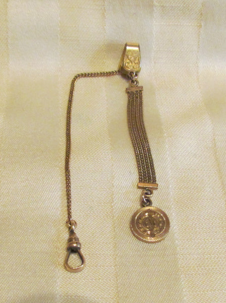 12kt GF Watch Chain And Fob Circa 1900 Gold Hayward Watch Chain