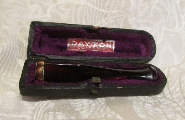 1930's Dayton Redmanol Cigarette Holder In The Original Leather Case