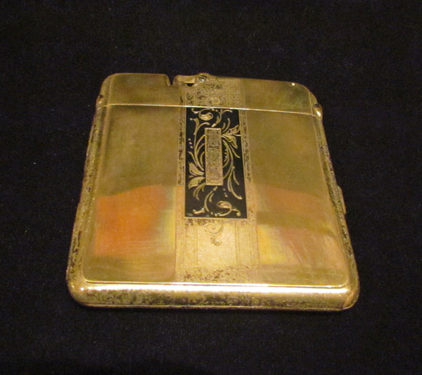 Ronson Ten A Case Lighter 1930s Enamel Cigarette Case Lighter Vintage Art Metal Works Working