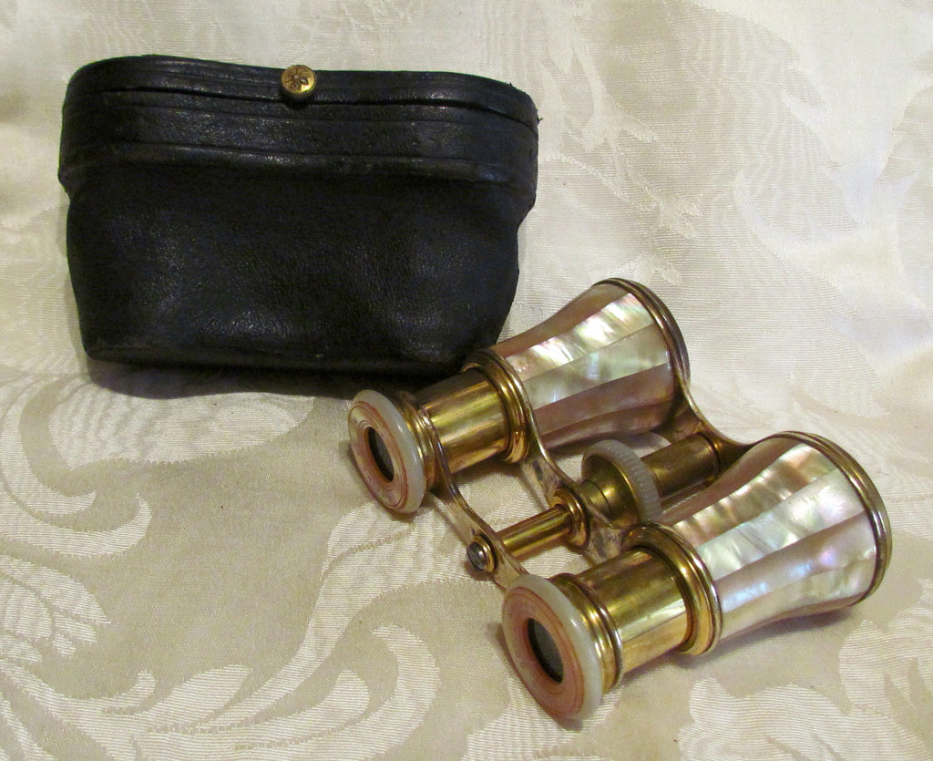 Antique LeMaire Fi Paris Opera Glasses 1800s Mother Of Pearl Binoculars Theater Glasses In Original Case