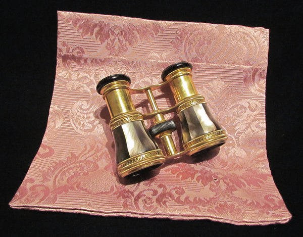 Antique LeMaire Fi Opera Glasses Paris Mother Of Pearl Theater Glasses Binoculars MOP Opera Glasses