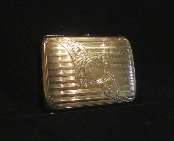 Victorian German Silver Cigarette Case 1900's Card Case Vesta Case RARE