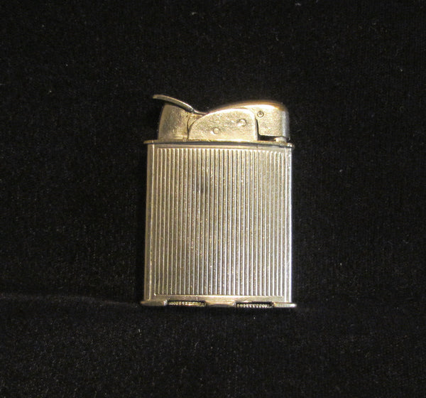 1940s Evans Spitfire Lighter Silver Art Deco Working Pocket Lighter