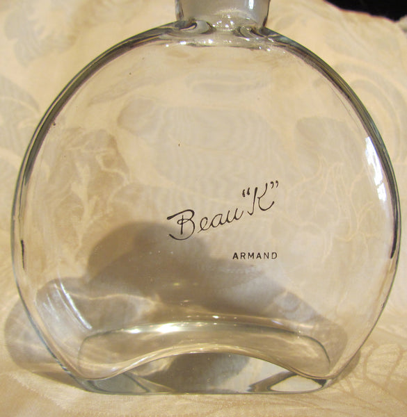 Antique Perfume Bottle Armand Beau K 1900's Hand Blown Glass Extremely Rare