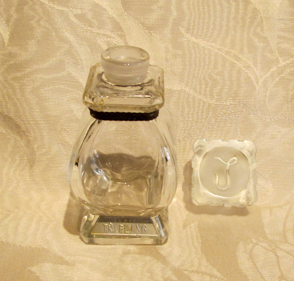 Vintage Lenels Trifling Perfume Bottle 1940s Fragrance Crystal Bottle