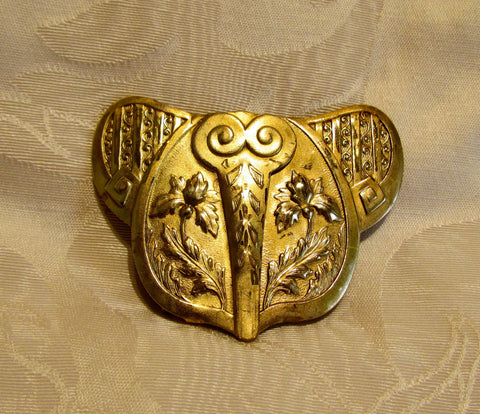1908 Elephant Belt Buckle Edwardian Iris Gold Buckle