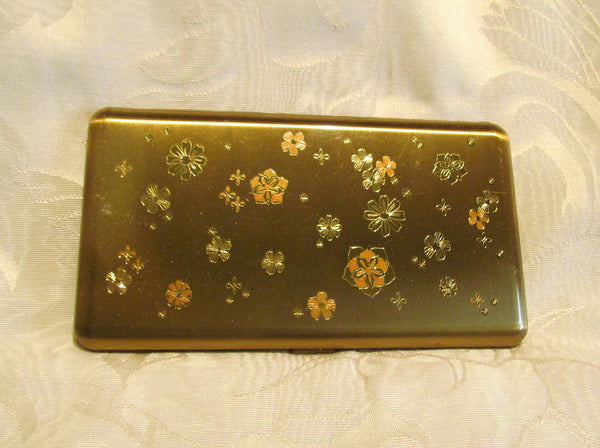 Wadsworth Cigarette Case 1950s Gold Business Card Case Or Credit Card Holder