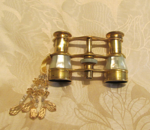 Mother Of Pearl Opera Glasses Antique Theater Glasses Whiting Davis Gold Mesh Purse