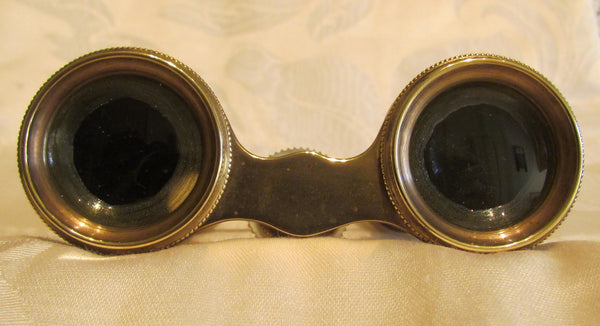 Antique Colmont Opera Glasses Paris Mother Of Pearl 1800s Binoculars Theater Glasses