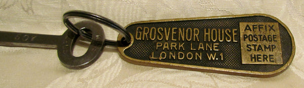 Antique London Hotel Key Grosvenor House Park Lane W1