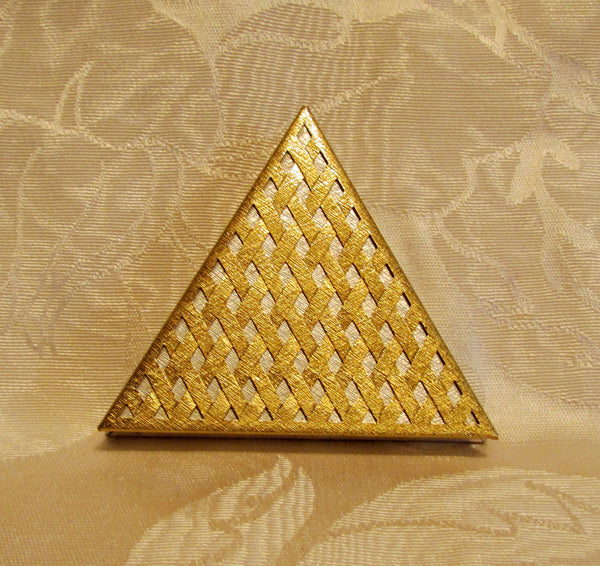 Vintage Faberge Triangle Compact In Original Box Unused