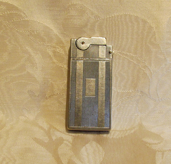 Trench Lighter 1940's Cigar Pipe Cigarette Working Silver Pocket Lighter A.S. R. Corp.