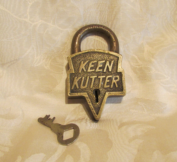 Antique Keen Kutter Brass Lock With Key Patent 1906 St Louis