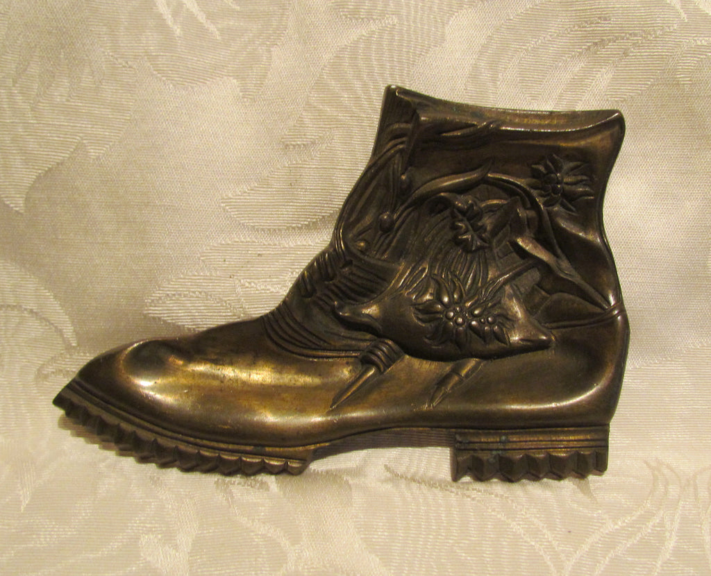 Art Nouveau Shoe Ashtray 1920s Brass Boot Ashtray