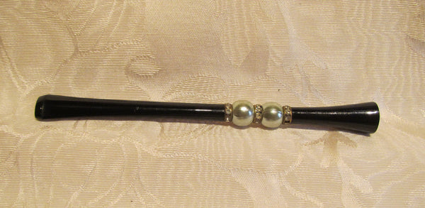 Vintage Rhinestone Cigarette Holder Unused Mad Men Bling
