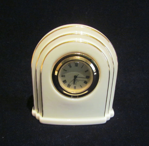 Lenox Quartz Clock Art Deco Style Working Clock Mint Condition