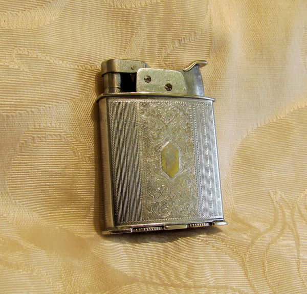 1930s Evans Trig-A-Lite Lighter Silver Working Pocket Lighter