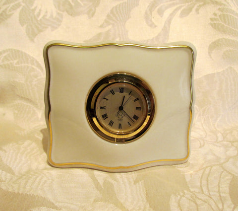Lenox Quartz Clock Book Style Working Clock Mint Condition