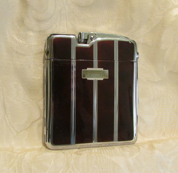 Ronson Ten A Case Lighter Vintage Enamel Cigarette Case Lighter