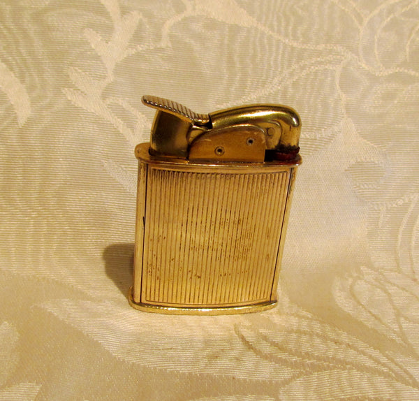 Vintage Evans Enamel Lighter Victorian Courting Scene Pocket Purse Lighter Working Condition