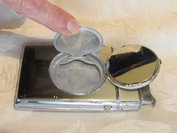 Art Deco Compact Case Lighter 1940's Evans Case Lighter Working