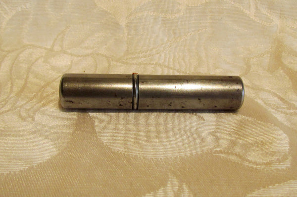 Silver Tube Lighter Trench Post And Wheel Lighter Great Working Condition