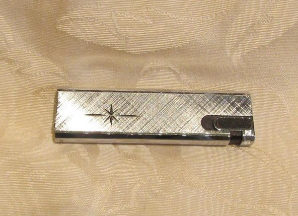 Vintage Silver Butane Lighter Working Flamex Toronado Ladies Lighter