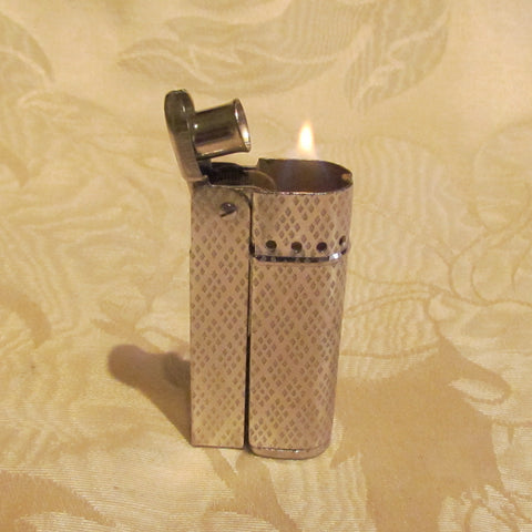 Vintage Silver Lighter Trench Wind Proof Lighter IMCO Style Great Working Condition