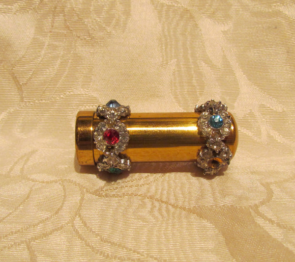 Rhinestone Lipstick Case Vintage Lipstick Holder Unused