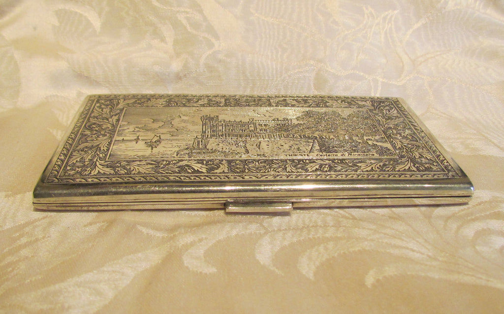 1930s Sterling Silver Cigarette Case Italy Business Card Credit ...