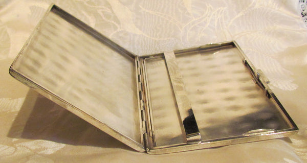 1930s Sterling Silver Cigarette Case Italy Business Card Credit Card Holder Italian Scene