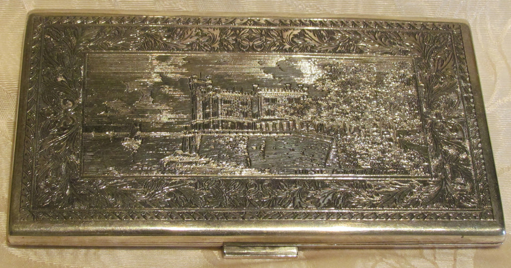 1930s Sterling Silver Cigarette Case Italy Business Card Credit Card ...