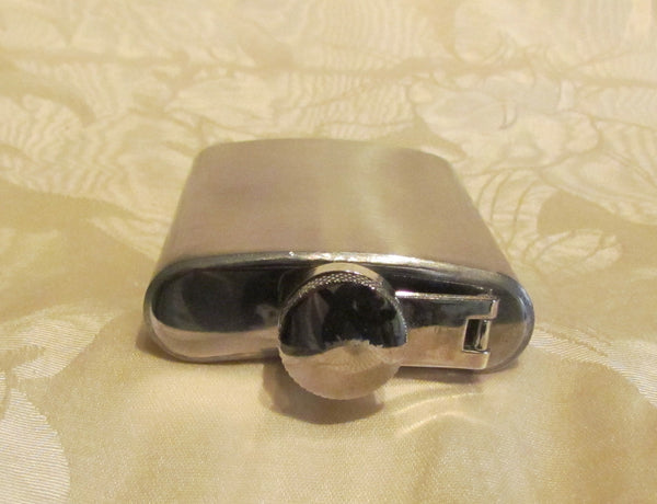 Brushed Stainless Steel Flask 3 oz. Unused