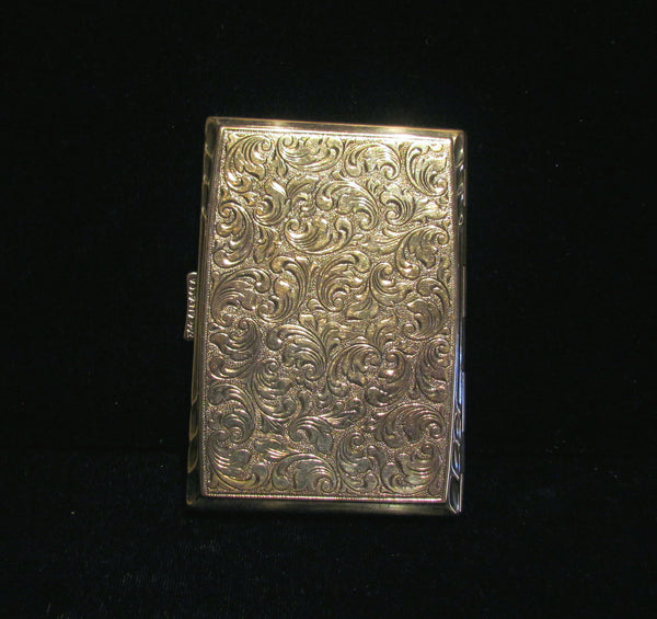 Alpacca Silver Cigarette Case Antique Elde Victorian Card Holder